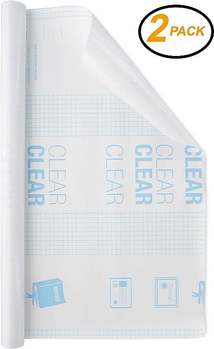 EmRaw Book Cover 2 Pack- Cubierta protectora autoadhesiva ...