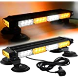ASPL 16.8 Inch LED Strobe Flashing Light Bar, 26 Flashing Modes High Intensity Emergency Hazard Warning Beacon Lights with Ma