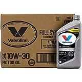 Valvoline Advanced Full Synthetic SAE 10W-30 Motor Oil 1 QT, Case of 6