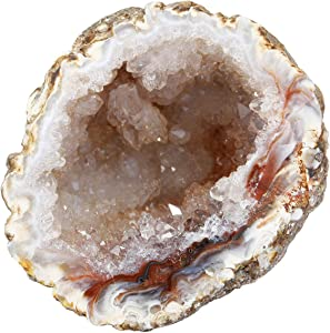 rockcloud Natural Raw Healing Crystal Druzy Geode Agate Mineral Irregular Home Decoration Gemstone Specimen