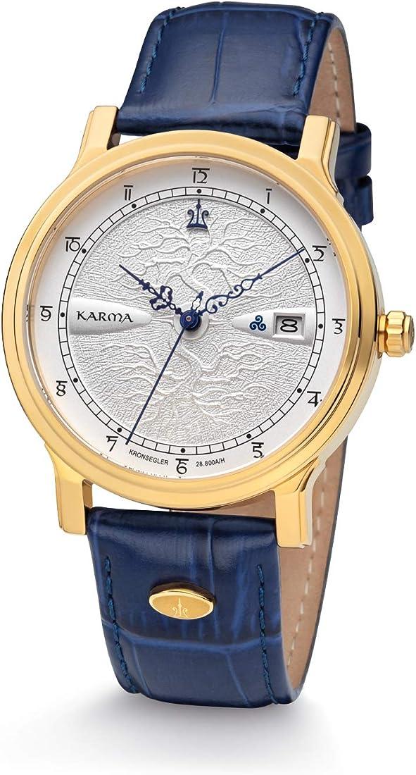 Kronsegler karma orologio automatico oro-argento/blu 4260181973937