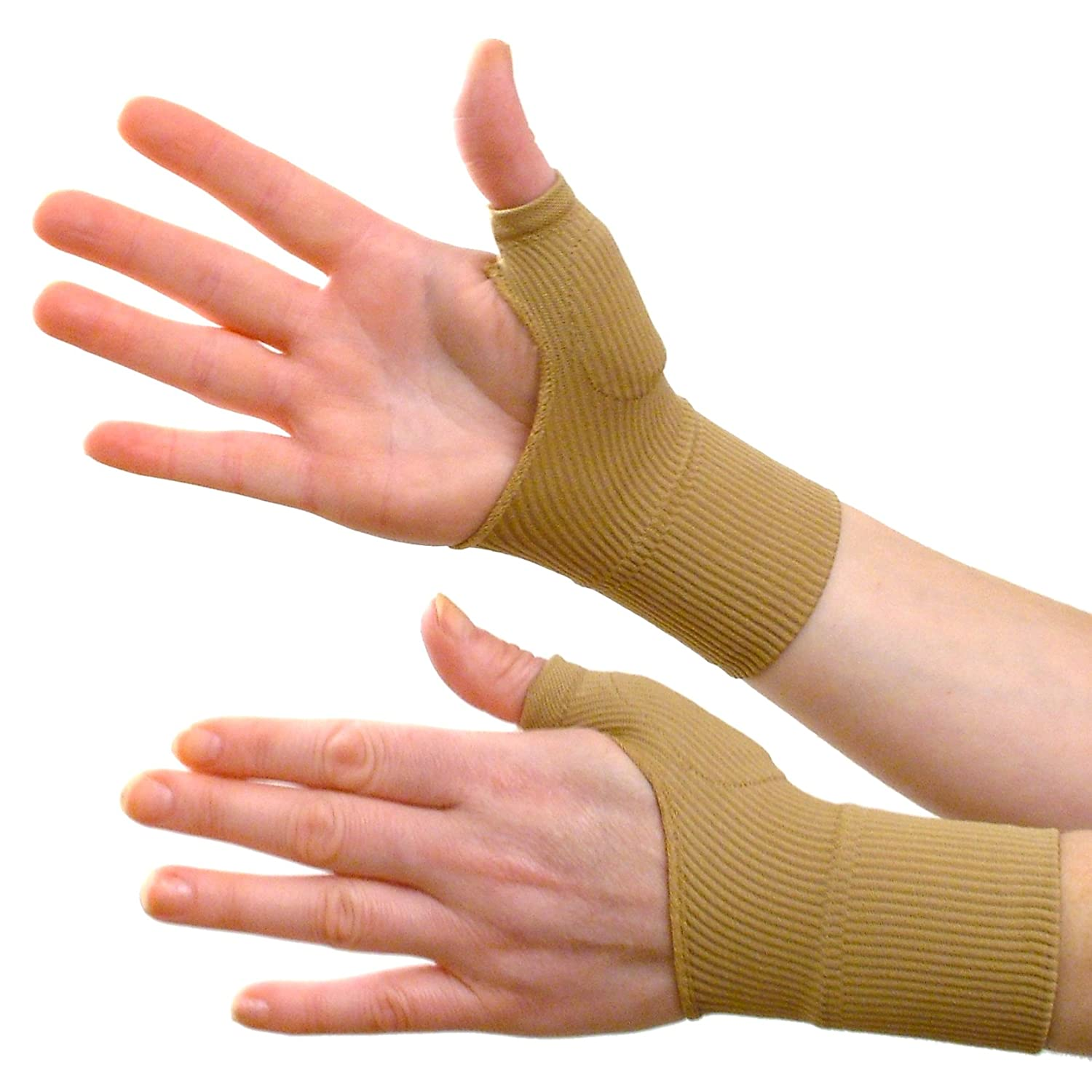Driving gloves carpal tunnel - Pair Pack Of 2 Tight Fitting Therapy Gloves With Gel Filled Cushions Over Thumb Joint