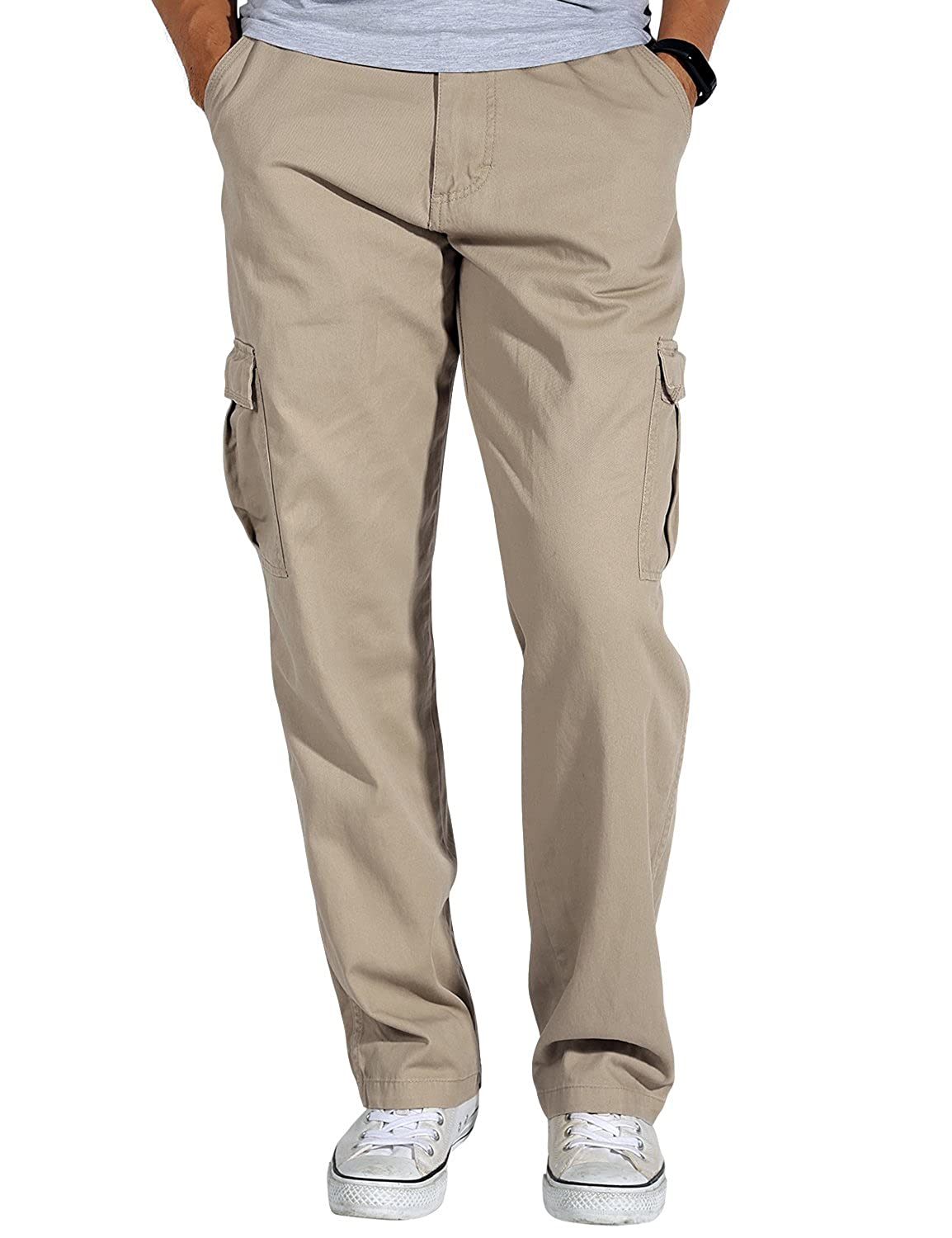 276c7a1d8d Match Men's Loose-Fit Straight Leg Twill Cargo Pants #6039 at Amazon Men's  Clothing store:
