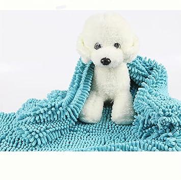 DAN Toalla Absorbente para Mascotas Toalla para Perros Gran Súper Absorbente Artefacto De Secado Rápido Taidijinmao Gato Suministros para El Baño,L: ...