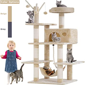 Amazon.com: BestPet Árbol para gatos, condominio, muebles de ...