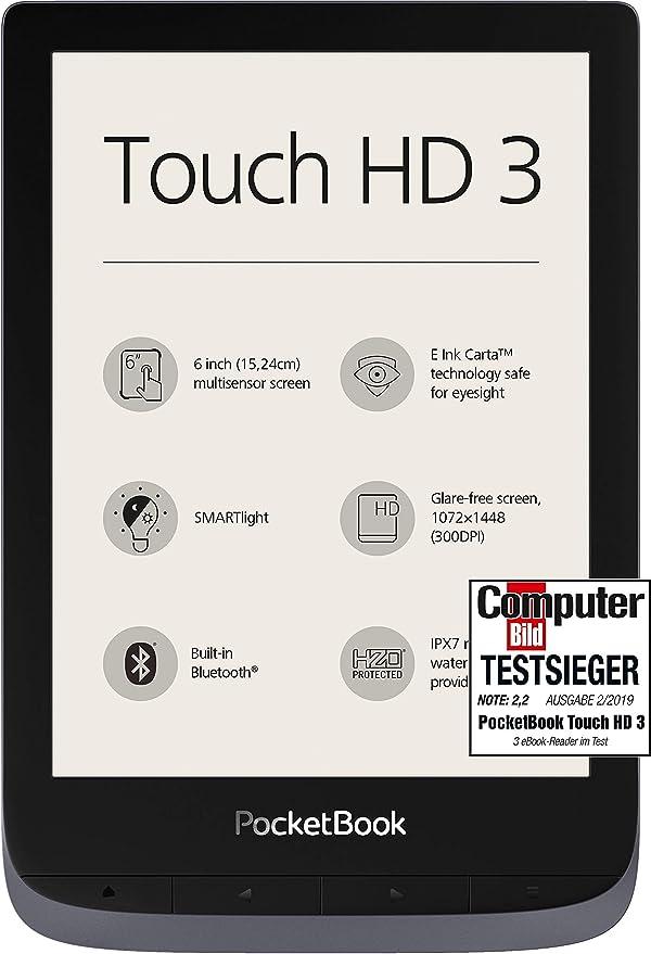 PocketBook Lector de eBook Touch HD 3 (16 GB Memoria; 15,24 Cm ...