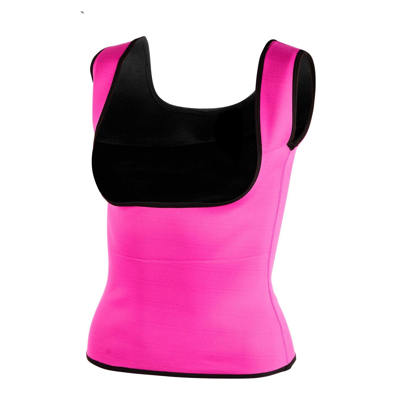 Queenral Neoprene Hot Sweat Body Shaper Sport Sauna Vest Tummy Fat Burner