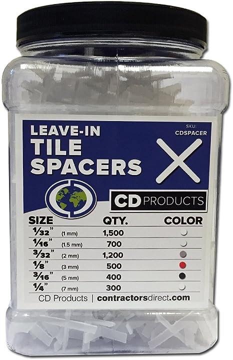 RTC SPC-18-JAR 1//8-Inch Leave In Tile Spacers 700 Per Pack