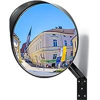 Miroir convexe Premium - Miroir de sécurité incurvé réglable de 30 cm pour l'intérieur et l'extérieur - Étend votre champ de vision pour augmenter la sécurité