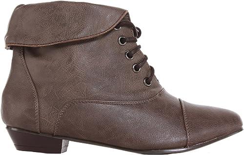 ShoeFashionista Womens Brown Pixie Lace