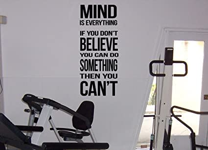 Gym motivation quote mind everything vinyl decal fitness wall