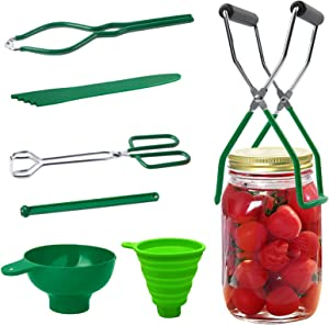 Guilian 7 Piece Canning Kit Canning Supplies Set Canning Jar Lifter with Grip Handles, Stainless Steel Large Canning for Home Canning Supplies Kitchen Tool Anti-Scald Clip Suit