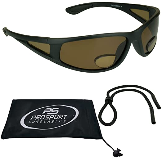 a31898c005 Amazon.com  proSPORT Fishing Polarized Bifocal Sunglasses Mens Side Shield  for Fisherman  Clothing