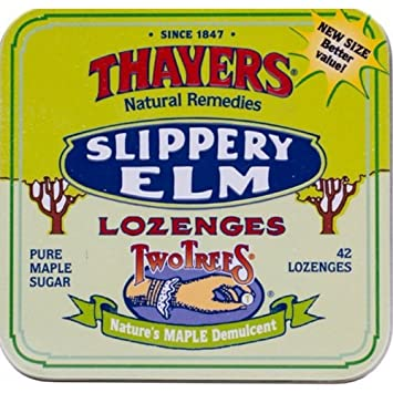 Thayers Lozenges Original Slippery Elm, 42 ea (Pack of 10) Elite Gentle Clean Soothing Skin Cleanser - Salon Size-360ml/12oz