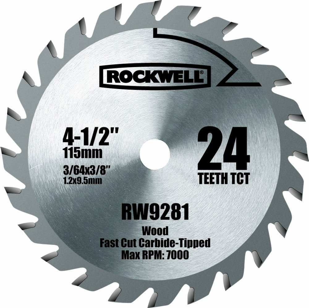Rockwell rw9281 4 12 inch 24t carbide tipped compact circular saw rockwell rw9281 4 12 inch 24t carbide tipped compact circular saw blade amazon greentooth Images