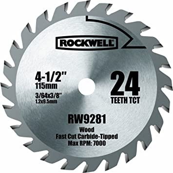Rockwell rw9281 4 12 inch 24t carbide tipped compact circular saw rockwell rw9281 4 12 inch 24t carbide tipped compact circular saw blade greentooth Choice Image