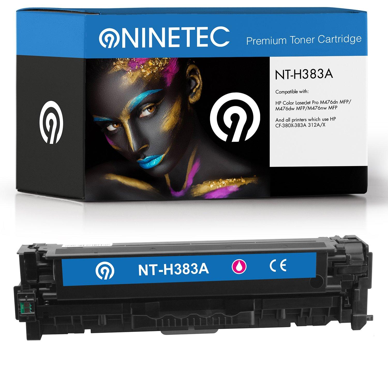 Parent 'NINETEC TabNT01 – NT de H380 con X tóner Compatible con H380 HP CF380 X – CF383 A 312 a/X (5) 1x Toner Magenta 180117