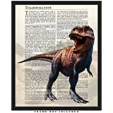 Tyrannosaurus Rex Dinosaur Wall Art Decor Prints: 8x10 Unframed Picture - Unique Room Decor for Boys, Girls, Men & Women Makes A Great Educational Gift for all ages for Under $15!