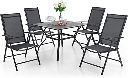 MFSTUDIO 5 Piece Patio Metal Dining Set