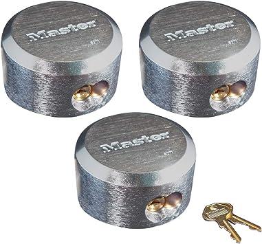 Master Lock Hidden Shackle Locks Keyed Alike 6271KA-3 Padlocks Keyed Alike 3 Pack
