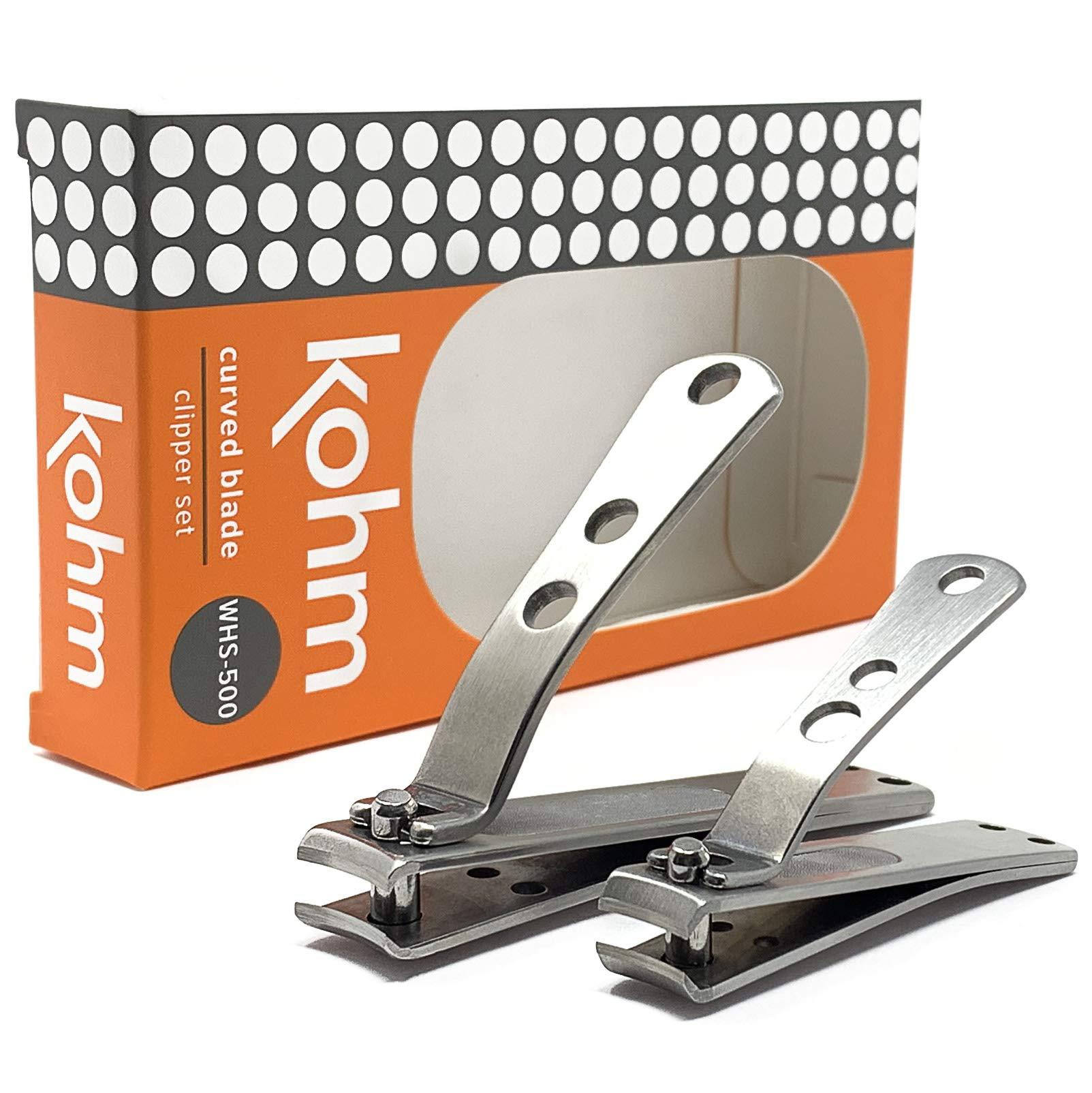 Kohm Nail Clipper Set for Thick Nails by Kohm