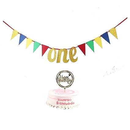 Amazon com: YUINYO Happy Birthday Banners - 2-Piece Set