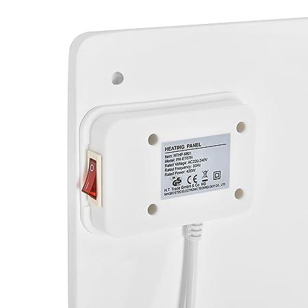 [in.Tec] Panel de calefacción por Infrarrojos radiador de Pared de cerámica Blanco Ahorra energía 400W: Amazon.es: Hogar