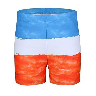 721b70916eca Baleaf Boys Athletic Training Swim Jammer Square Leg Swimsuit Swimwear  Polyester with Drawstring,Swim Shorts