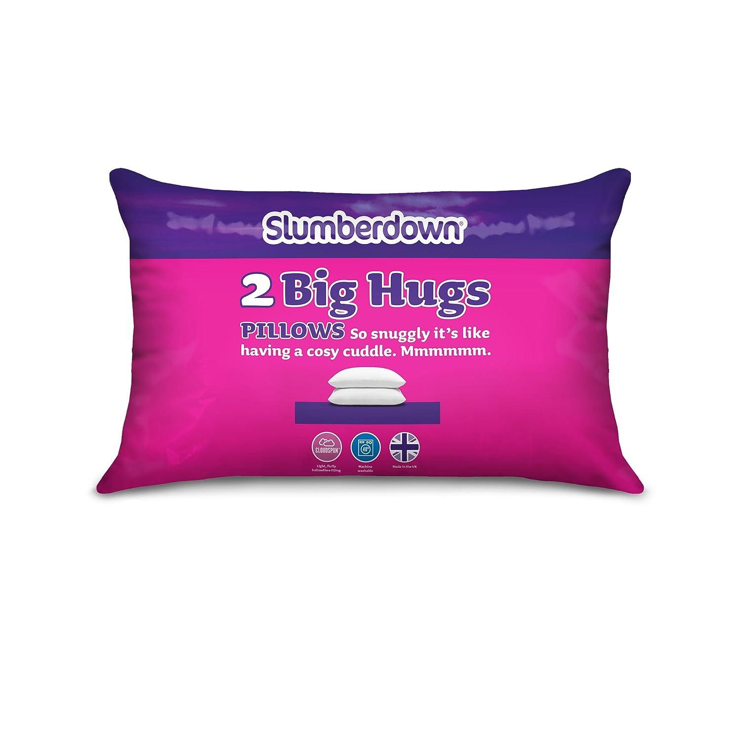 Slumberdown Bouncy Pillows X 2 White Ebay