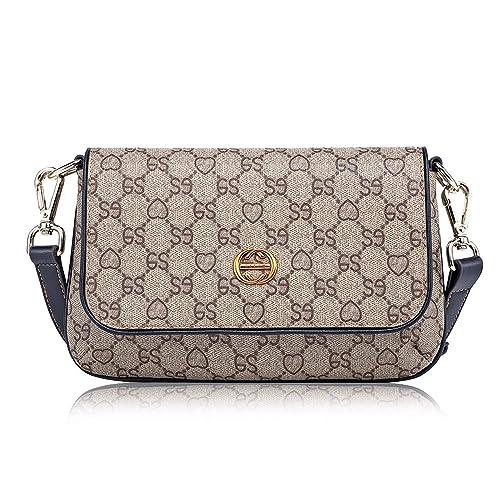 7449cb4e3587 LeDuruo Crossbody Bags for Women Vintage Leather Small Shoulder Bag Purse  and Handbags