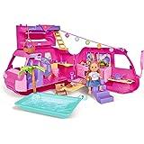 Simba 105733275 - Evi Love Ferienspaß Wohnmobil / Aufklappbares Wohnmobil / Mit über 40 Teilen / Puppe 12cm
