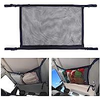 BRITOR Car Ceiling Storage Net Pocket-Universal Car Roof Interior Cargo Net Bag with Zipper,Car Trunk Storage Organizer…
