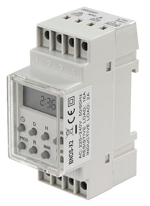 6 opinioni per McVoice- Timer digitale 'STE-2', 7 giorni, 230V/16A per montaggio su pannello di