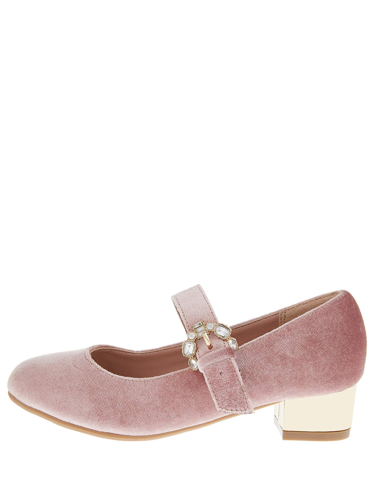 Accessorize Briony Buckle Velvet Charleston Shoes - Girls - US 11 Shoe