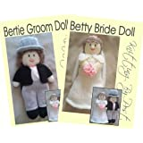 Bride and Groom Wedding Knitting Patterns. Double Knitting. Toy Dolls