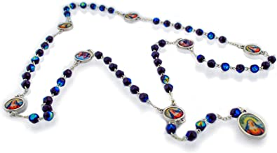 Amazon.com: Vaticano Imports Catholic Sorrowful Mother Chaplet aka Rosary  of The Seven Sorrows | Features Glass Beads with Aurora Borealis Finish |  Makes a Great First Communion or Confirmation Gift!: Jewelry