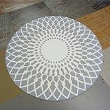 Teppich rund ikea  IKEA Teppich FLÖNG rund Kurzflor in 3 Farben (weiß-grau): Amazon ...