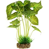 Artificial Water Grass,Saim Aquarium Plants Decor Fish Tank Decoration Ornament Artificial Plastic Syngonium Water Grass Plant 8.6 inch Tall