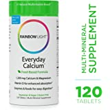 Rainbow Light - Everyday Calcium - Calcium, Magnesium, and Vitamin D Supplement; Vegan and Gluten Free; Supports Muscle and Bone Health, Calcium Absorption, and Digestion - 120 Tablets