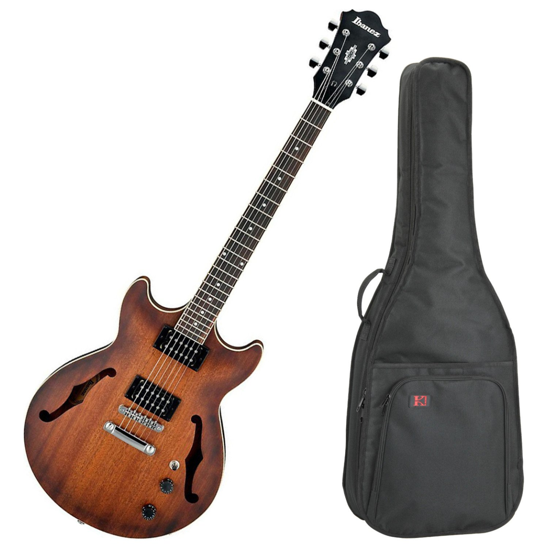 Ibanez am53tf Artcore Semi hueca para guitarra eléctrica (Flat de tabaco) W/Carcasa Funda: Amazon.es: Instrumentos musicales