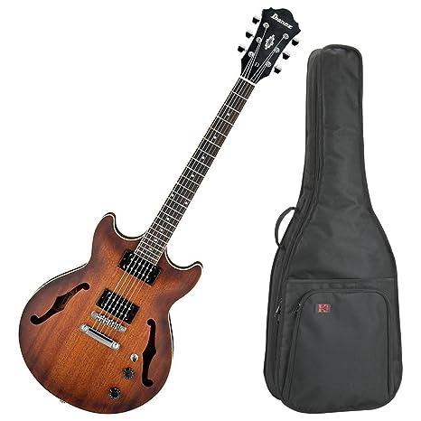 Ibanez am53tf Artcore Semi hueca para guitarra eléctrica (Flat de tabaco) W/Carcasa