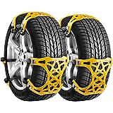 タイヤチェーン 非金属 ジャッキアップ不要 簡単取り付け サイズ調節可 155-285mm対応 説明書付き タイヤ滑り止め 冬の必需品