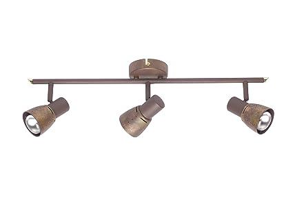 Lampade Rustiche In Rame : Brilliant 39516 56 lampada a 3 faretti lava colore: rame antico