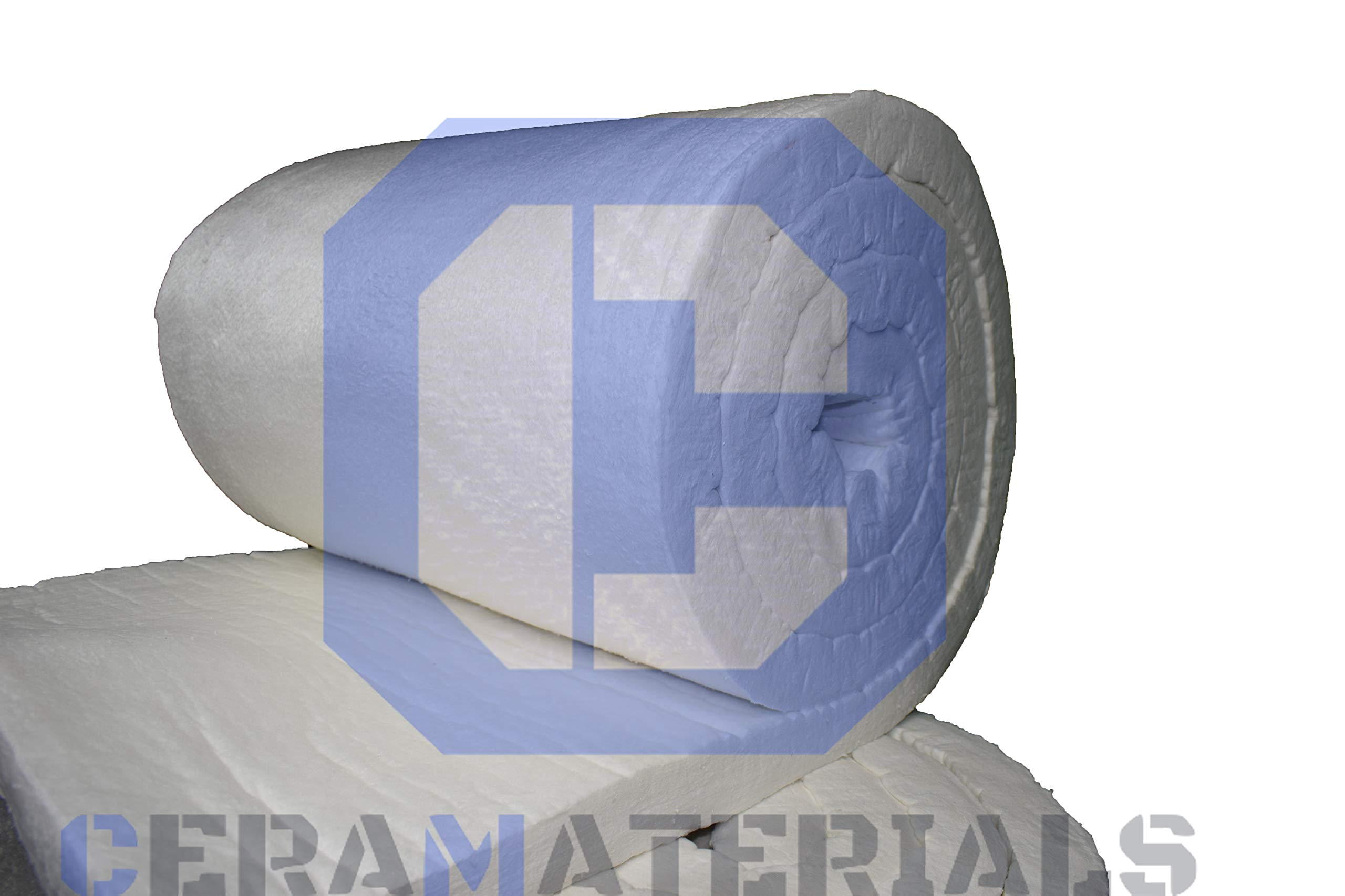 Ceramic Fiber Insulation Blanket 8# Density 2300F (2''x24''x12.5') for Thermal Insulation of Stoves, Pizza Ovens, Furnaces, Kilns & More by CeraMaterials