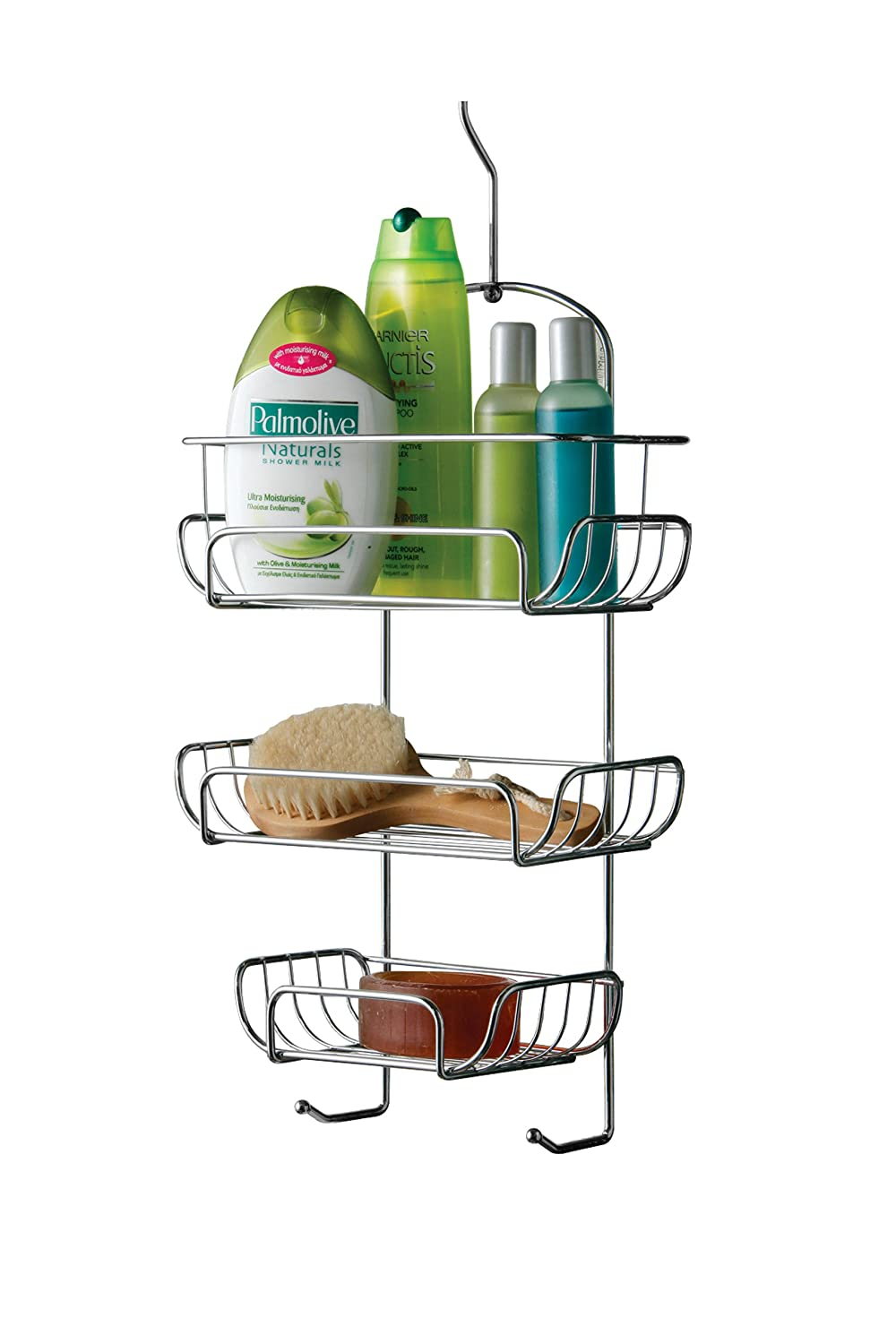 Premier Housewares 3-Tier Chrome Wire Shower Caddy (52 x 25 x 11 cm ...