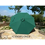 Replacement umbrella canopy for 11ft 8 ribs Green (Canopy only)