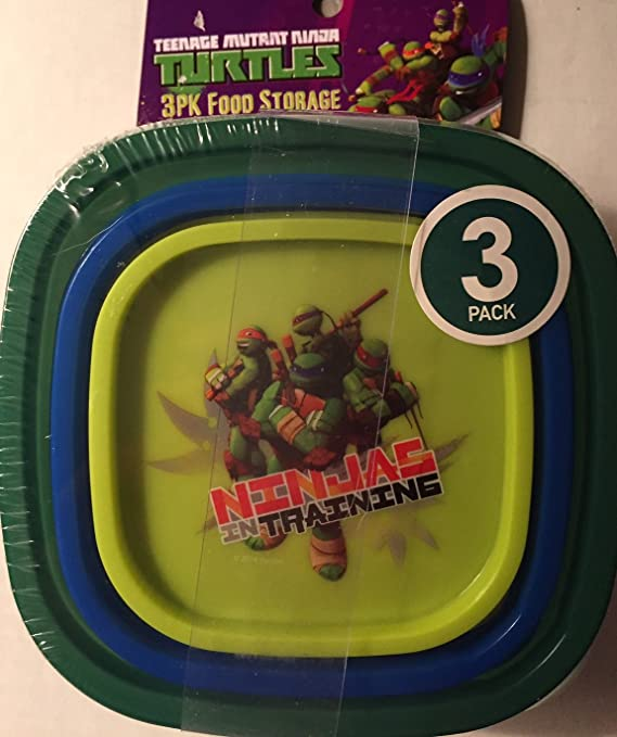 Teenage Mutant Ninja Turtles Food Storage Containers (3 Pack)
