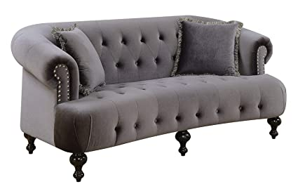 Amazon.com: Benzara BM183174 Fabric upholstered Wooden Sofa ...