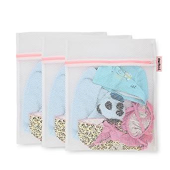 Owfeel de malla sujetador de bolsas para ropa sucia juego de 3 para la colada ropa