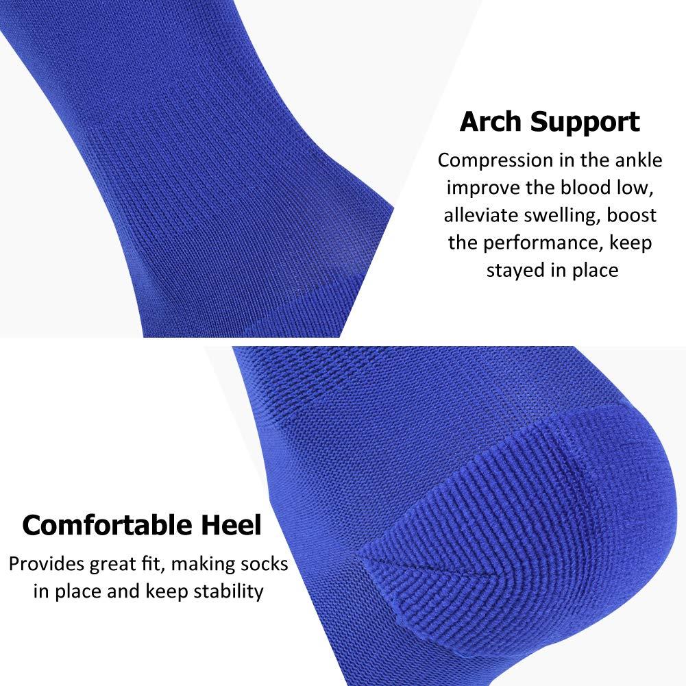 Soccer Socks 1//2 Pairs FOOTPLUS Over Knee High Softball Socks